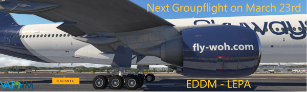 Groupflight EDDM - LEPA